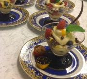 Passion Fruit, berries and chocolate triffle