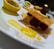 Filo Napoleon, passion fruit desert