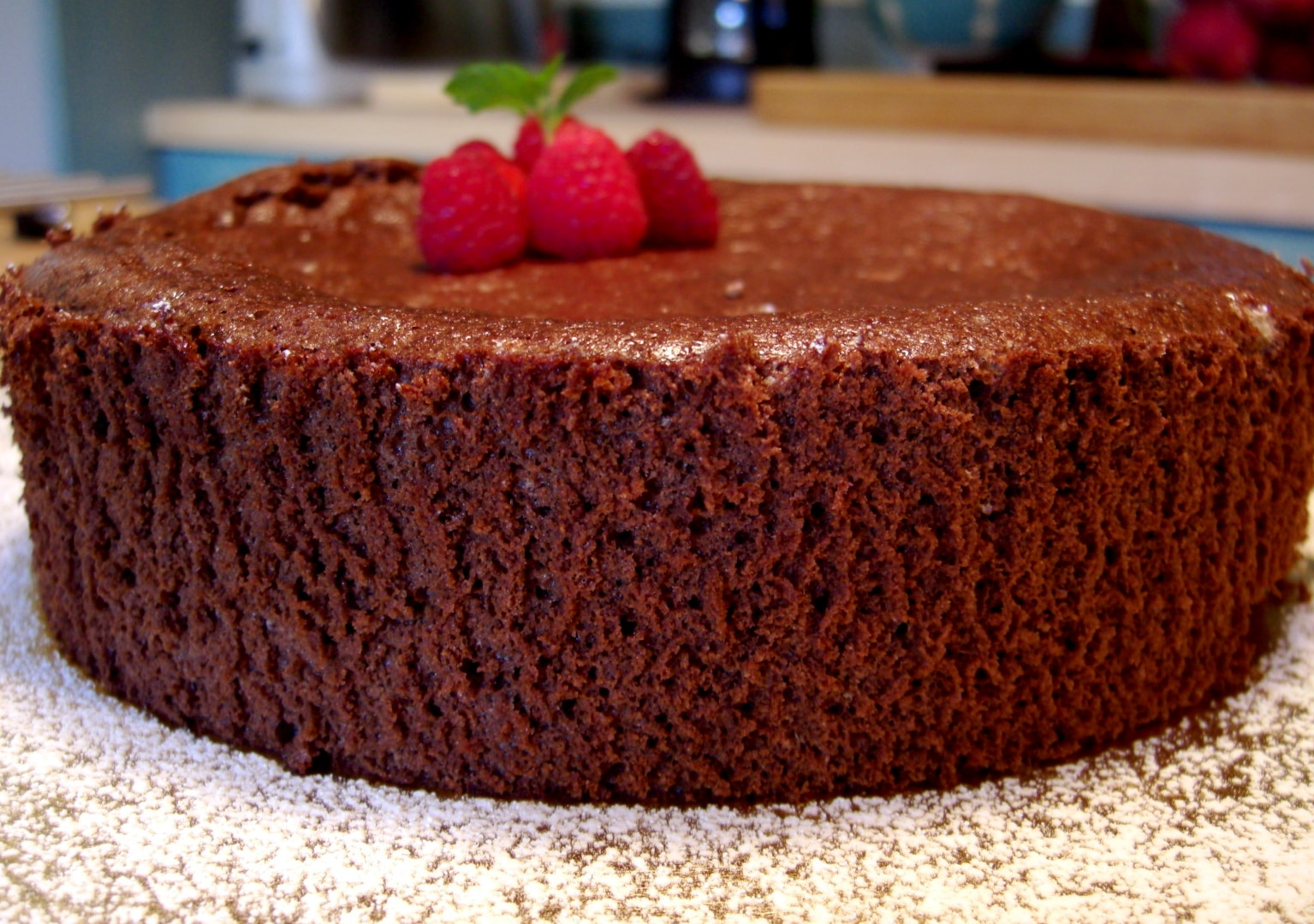 Decadent and Guilt Free Dark Chocolate Mousse Cake